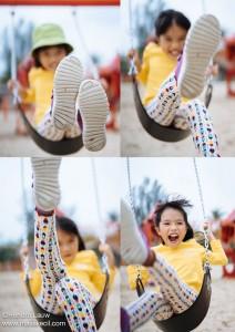 Swing High - Singapore outdoor children photographer