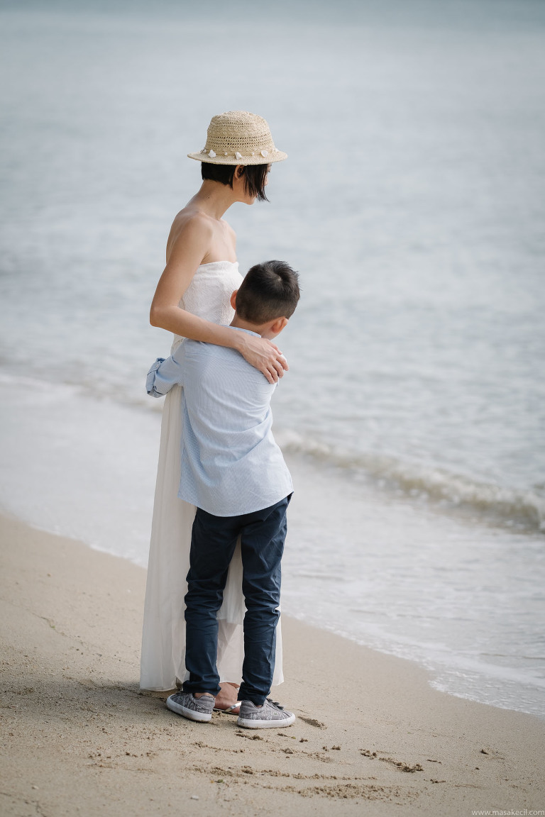 Beach family photography in Singapore