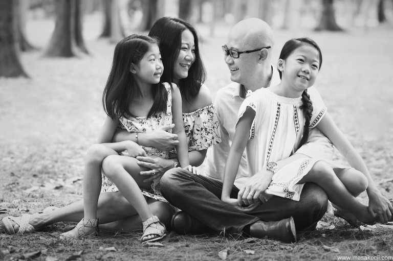 Singapore black and white family photography