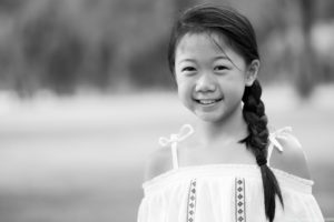 Black and White Children Portrait