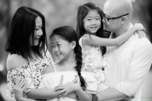 Black and White Children and Family Photographer