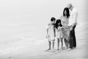 Family photography at a beach