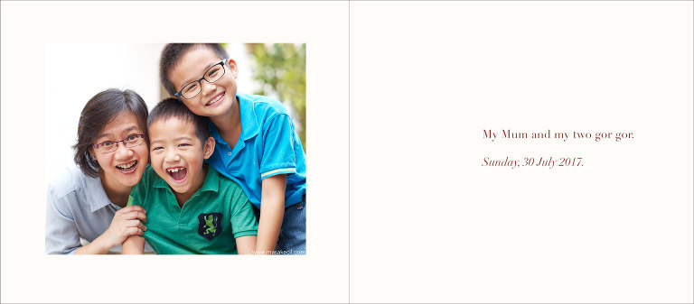 Mother and sons - family photography